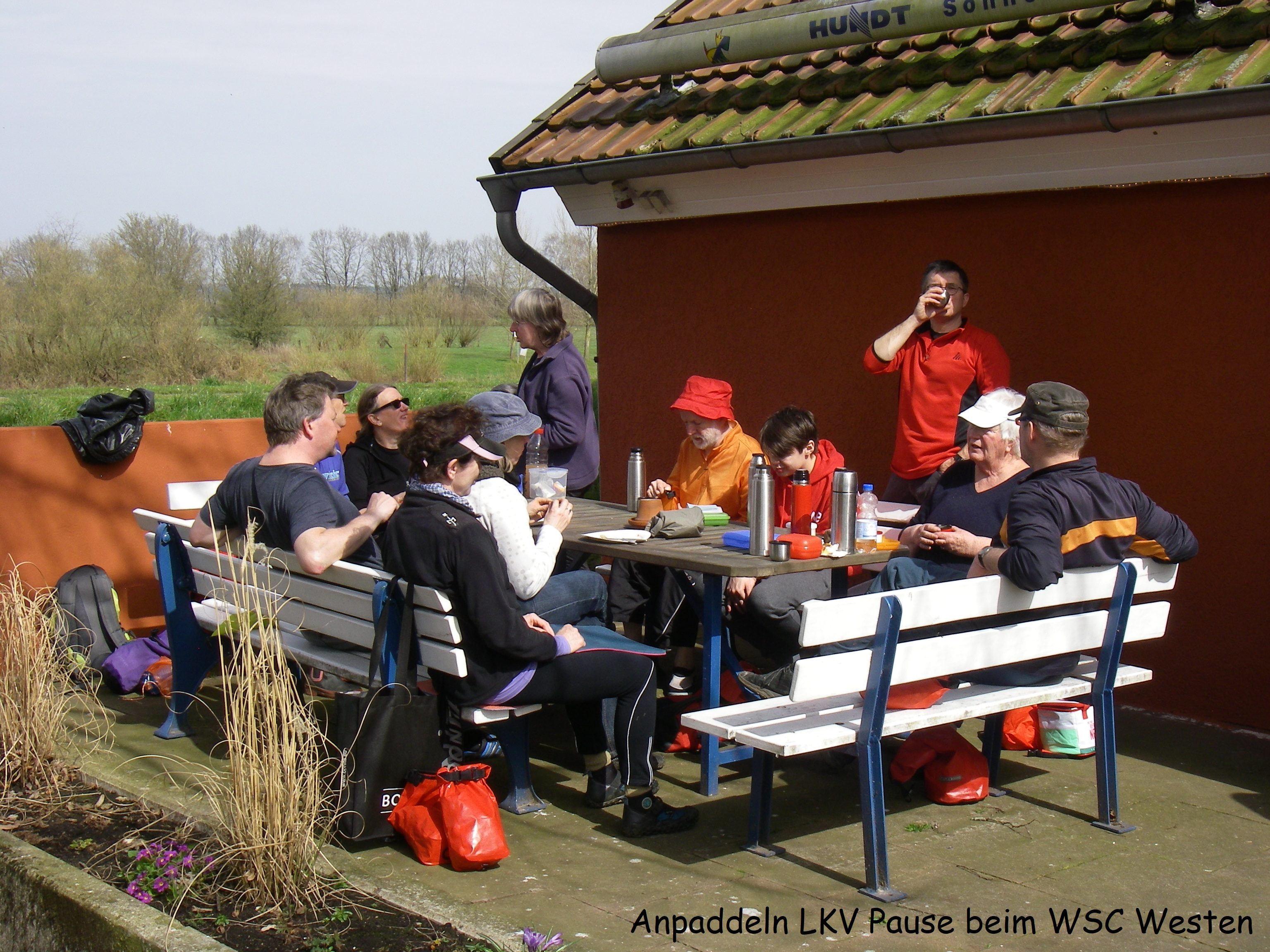 Anpappdeln LKV Pause in Westen